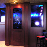 <b>Blue Bourbon Bar</b><br>9777 Katy Freeway<br /> Houston, TX 77024<br /> 294 square feet<br /> Morris Architects